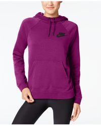 Nike Purple Sportswear Fleece Rally Hoodie