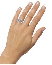 Macy's Metallic Diamond Princess Cluster Ring (3 Ct. T.w.) In 14k White Gold
