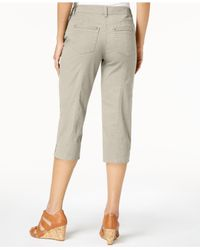 Style & Co. Natural Petite Capri Pants, Created For Macy's