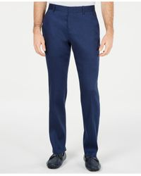 Alfani Blue Linen Pants, Created For Macy