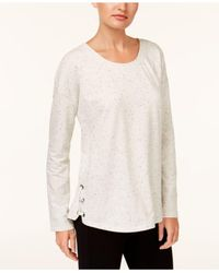 Style & Co. - White Lace-up Sweatshirt - Lyst