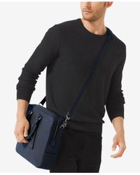 Michael Kors - Blue Bryant Large Briefcase for Men - Lyst