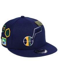 KTZ Blue Utah Jazz On-court Collection 9fifty Snapback Cap for men