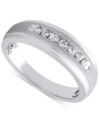 Beautiful Beginnings - Metallic Men's Diamond Band In Sterling Silver (1/5 Ct. T.w.) for Men - Lyst