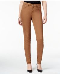 Style & Co. Brown Curvy-fit Skinny Jeans, Only At Macy's
