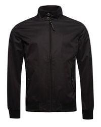 Superdry Black Iconic Harrington Jacket for men