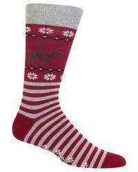 Hot Sox | Red Men's Reindeer Socks for Men | Lyst