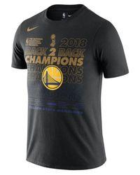Nike Black Golden State Warriors Finals Champion Official Locker Room T-shirt for men