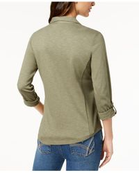 Style & Co. - Green Utility Shirt, Created For Macy's - Lyst