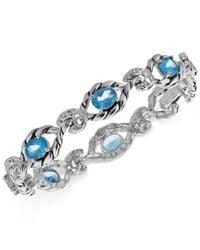 Carolyn Pollack - Blue Topaz Open Link Bracelet (7-3/4 Ct. T.w.) In Sterling Silver - Lyst