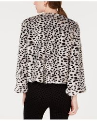 Maison Jules - Multicolor Leopard-print Faux-fur Jacket, Created For Macy's - Lyst