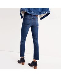 Madewell Blue Tall Slim Straight Jeans In William Wash