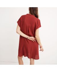 Madewell Red Bicoastal Dress