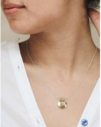 Madewell - Metallic Odette New York Mini Canyon Pendant Necklace - Lyst