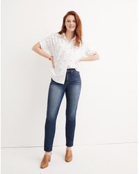 Madewell Blue Slim Straight Jeans In William Wash