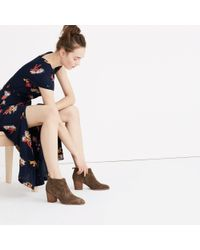Madewell - Brown The Brenner Boot In Suede - Lyst