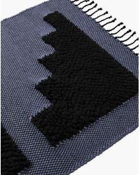 Madewell Blue Minna Medium Recycled Cotton Steps Mat