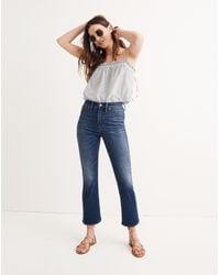 Madewell Blue Petite Cali Demi-boot Jeans In Danny Wash: ™ Denim Edition