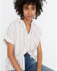 Madewell Multicolor Central Shirt In Sadie Stripe