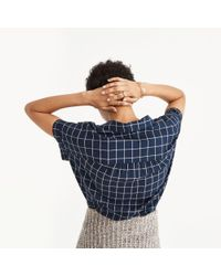 Madewell - Blue Central Shirt In Windowpane - Lyst