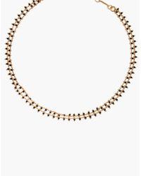 Madewell - Metallic Beadlink Choker Necklace - Lyst