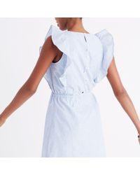 Madewell Blue Bellflower Ruffle Dress