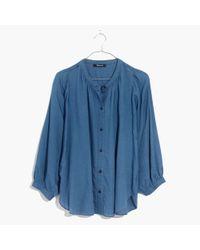 Madewell | Blue Indigo Gauze Shirt | Lyst