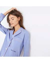 Madewell Blue Embroidered Rise And Shine Nightshirt