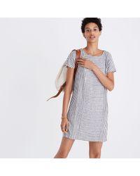 Madewell Black Stripe-play Button-back Tee Dress