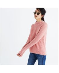 Madewell - Pink Northfield Mockneck Sweater - Lyst