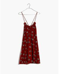 Madewell Red Tulum Cover-up Dress In Fresh Daisies