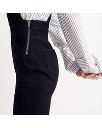Madewell Black Skinny Overalls: Raw-hem Edition