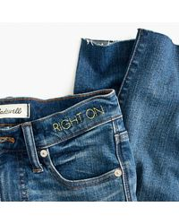 """Madewell - Blue 9"""" High-rise Skinny Jeans In Allegra Wash: Rip And Repair Edition - Lyst"""
