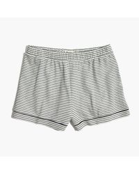 Madewell Multicolor Knit Bedtime Pajama Shorts