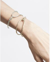 Madewell Metallic Odette New York® Split Ridge Cuff Bracelet