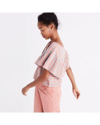 Madewell Pink Ace&jigtm Clifton Stripe Top