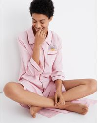 Madewell Pink Pre-order Embroidered Bedtime Nightdress
