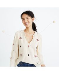 Madewell - Multicolor Embroidered Fringe Top - Lyst