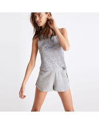 Madewell - Gray Pre-order Waffle Knit Pajama Shorts - Lyst