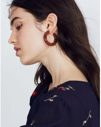 Madewell - Multicolor Striped Resin Hoop Earrings - Lyst