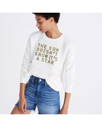 Madewell Multicolor The Sun Doesn't Know It's A Star Sweatshirt