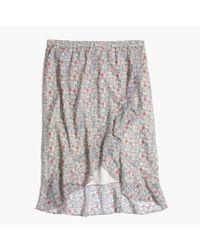 Madewell Multicolor Ruffle-wrap Midi Skirt In Shadowpetal