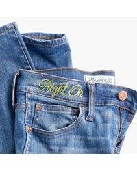 """Madewell Blue Taller 9"""" High-rise Skinny Jeans: Ripped And Patched Edition"""