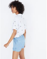 Madewell Blue Chambray Pull-on Shorts