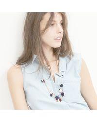 Madewell - Blue Jubilate Pom-pom Necklace - Lyst