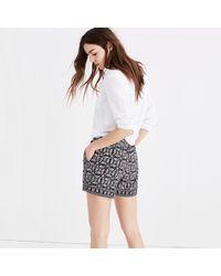 Madewell Black Drapey Pull-on Shorts In Bandana Paisley
