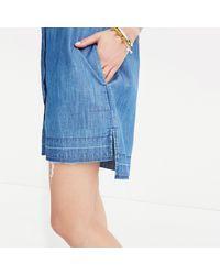 Madewell Blue Denim Drop-hem Shirtdress