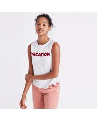 Madewell Embroidered Vacation Tank Top