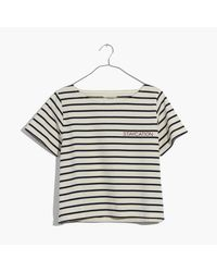 Madewell Multicolor Embroidered Setlist Staycation Boxy Tee