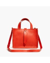 Madewell Red The Whipstitch Mini Tote Bag